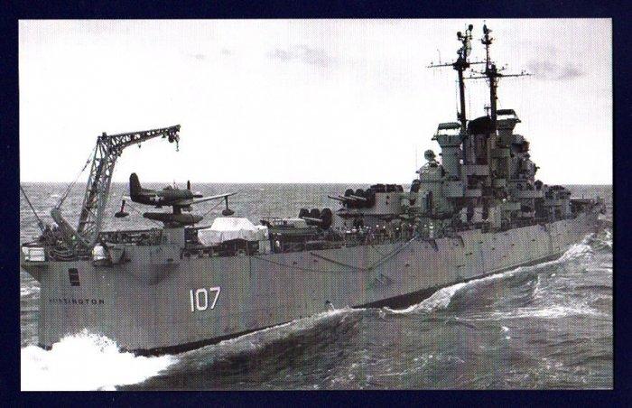 USS HUNTINGTON CL-107 Cruiser Navy Ship Postcard