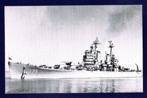 USS LOS ANGELES CA-135 Cruiser Navy Ship Postcard
