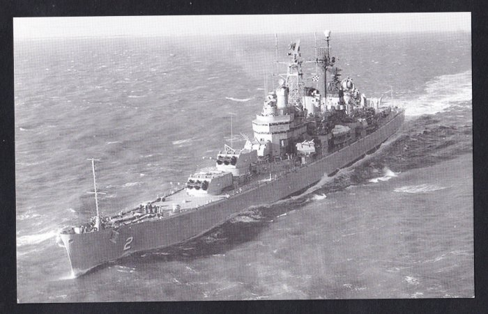 USS CANBERRA CAG-2 Guided Missile Cruiser Navy Ship Postcard