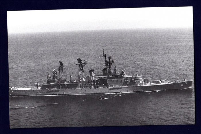 USS PROVIDENCE CLG-6 Guided Missile Cruiser Navy Ship Postcard