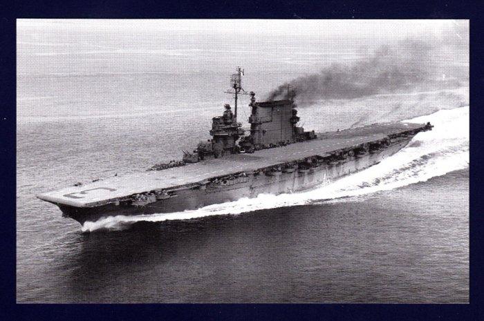 USS SARATOGA CV-3 Aircraft Carrier Navy Ship Postcard