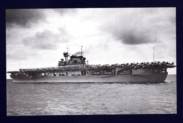 USS ENTERPRISE CV-6 Aircraft Carrier Navy Ship Postcard