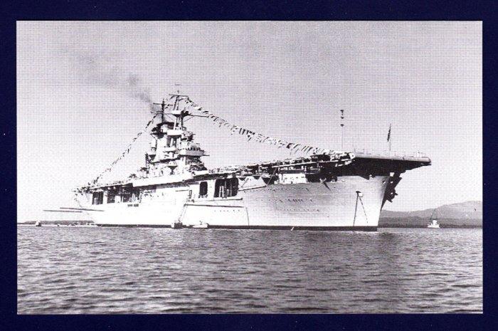 USS WASP CV-7 Aircraft Carrier Navy Ship Postcard