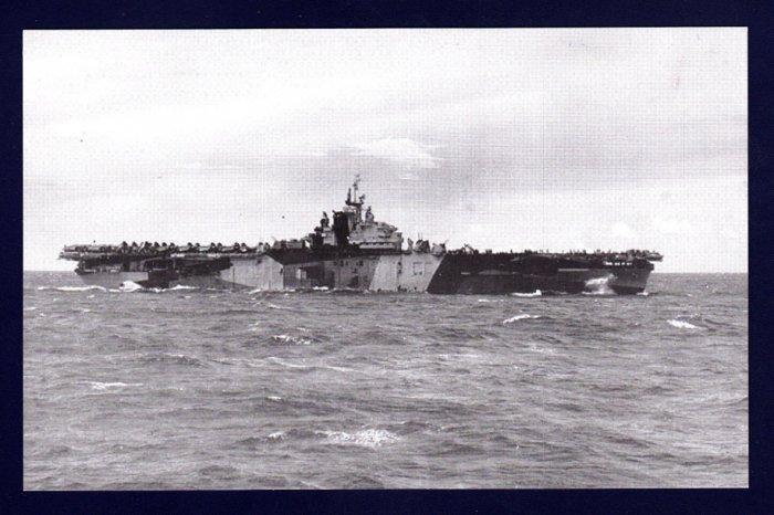 USS FRANKLIN CV-13 Aircraft Carrier Navy Ship Postcard