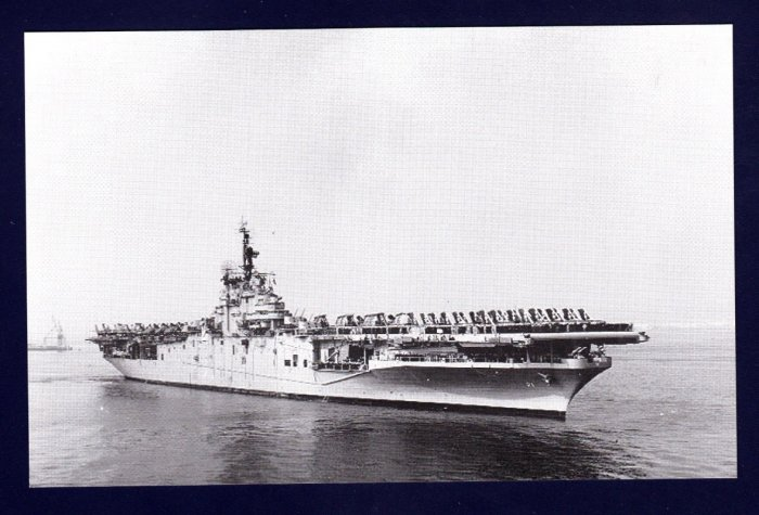 USS BOXER CVA-21 Aircraft Carrier Navy Ship Postcard
