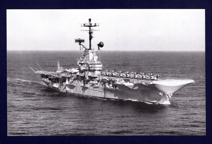 USS KEARSARGE CVS-33 Aircraft Carrier Navy Ship Postcard