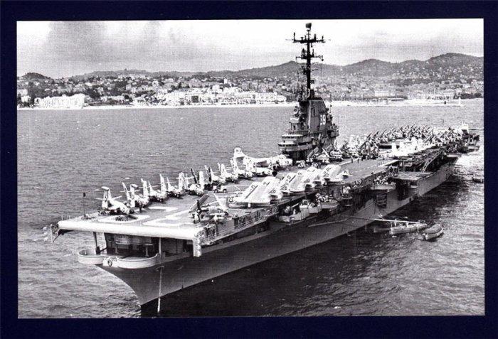 USS LAKE CHAMPLAIN CVA-39 Aircraft Carrier Navy Ship Postcard