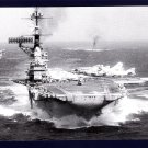 USS FRANKLIN D. ROOSEVELT CVA-42 Aircraft Carrier Navy Ship Postcard