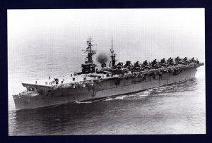 USS WRIGHT CVL-49 Aircraft Carrier Navy Ship Postcard