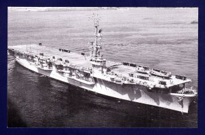 USS RENDOVA CVE-114 Escort Carrier Navy Ship Postcard