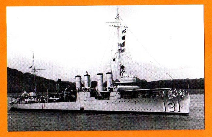 USS BUCHANAN DD-131 Destroyer Navy Ship Postcard
