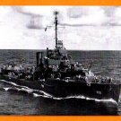 USS HULL DD-350 Destroyer Navy Ship Postcard