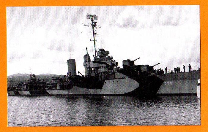 USS DALE DD-353 Destroyer Navy Ship Postcard