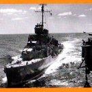 USS HELM DD-388 Destroyer Navy Ship Postcard