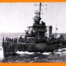 USS AARON WARD DD-483 Destroyer Navy Ship Postcard