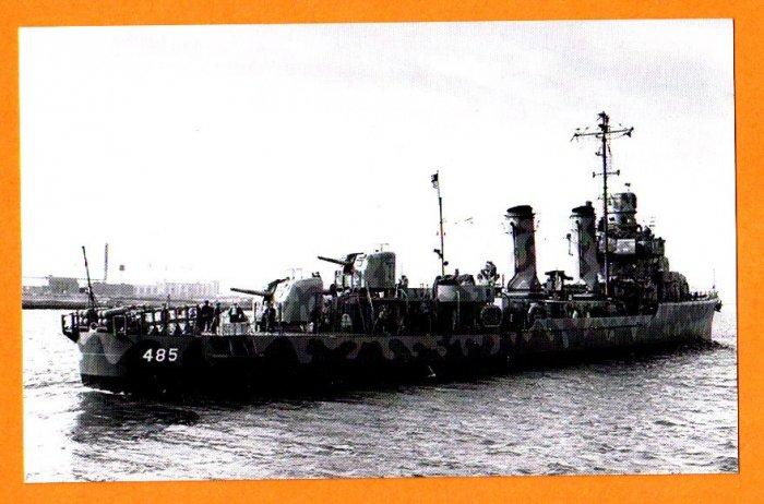 USS DUNCAN DD-485 Destroyer Navy Ship Postcard