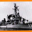 USS MILLER DD-535 Destroyer Navy Ship Postcard