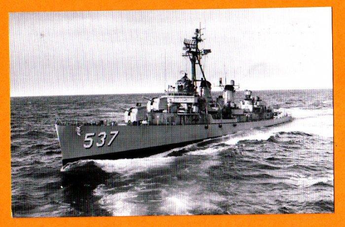 USS THE SULLIVANS DD-537 Destroyer Navy Ship Postcard