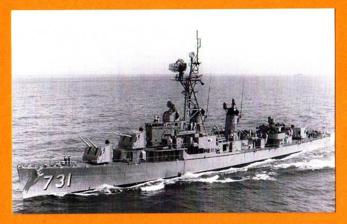 USS MADDOX DD-731 Destroyer Navy Ship Postcard