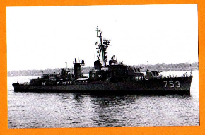 USS JOHN R. PIERCE DD-753 Destroyer Navy Ship Postcard