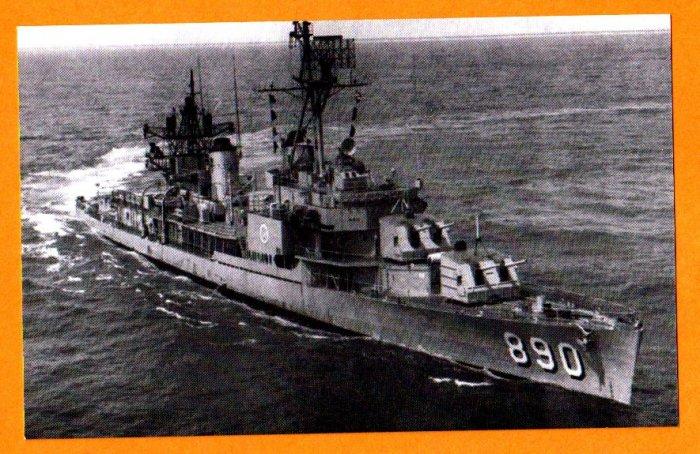 USS MEREDITH DD-890 Destroyer Navy Ship Postcard