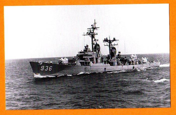 USS DECATUR DD-936 Destroyer Navy Ship Postcard