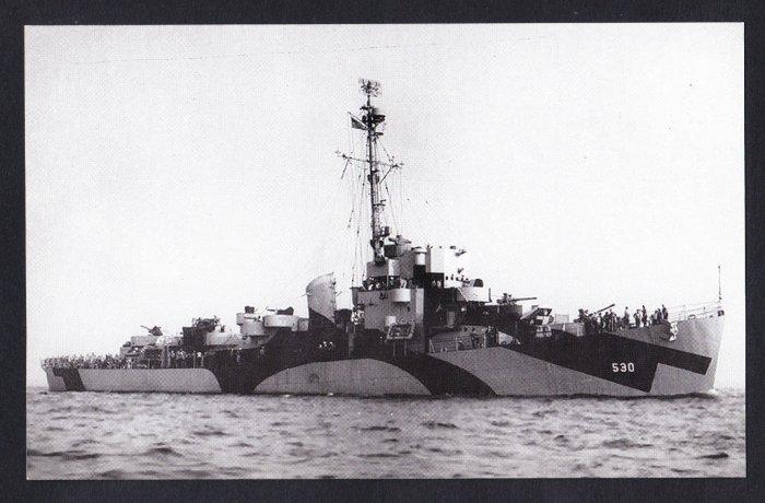 USS JOHN M. BERMINGHAM DE-530 Destroyer Escort Navy Ship Postcard
