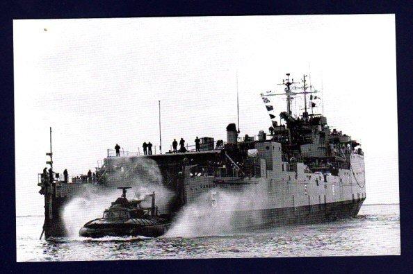 USS GUNSTON HALL LSD-5 Dock Landing Ship Navy Ship Postcard