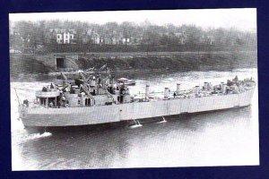 USS LST-1 Tank Landing Ship Navy Ship Postcard