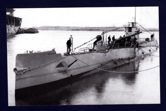 USS S-22 (SS-127) Submarine Navy Ship Postcard