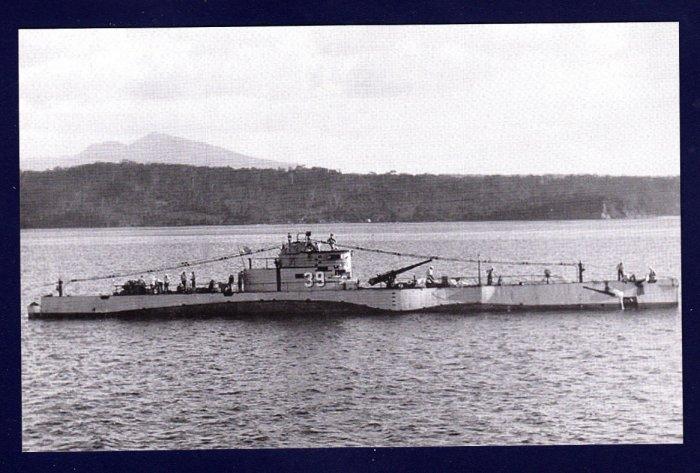 USS S-39 (SS-144) Submarine Navy Ship Postcard
