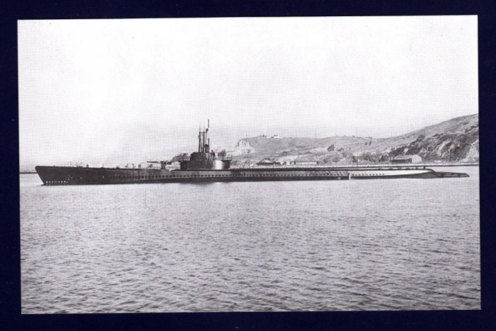 USS TANG SS-306 Submarine Navy Ship Postcard