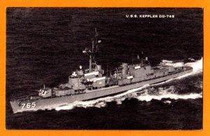 USS KEPPLER DD-765 Destroyer Navy Ship Postcard