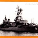 USS GLENNON DD-840 Destroyer Navy Ship Postcard