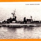 USS NORRIS DD-859 Destroyer Navy Ship Postcard