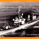 USS BROWNSON DD-868 Destroyer Navy Ship Postcard