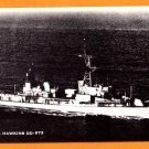 USS HAWKINS DD-873 Destroyer Navy Ship Postcard