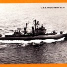 USS WILKINSON DL-5 Destroyer Leader Navy Ship Postcard