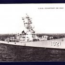 USS COURTNEY DE-1021 Destroyer Escort Navy Ship Postcard