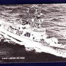 USS LESTER DE-1022 Destroyer Escort Navy Ship Postcard