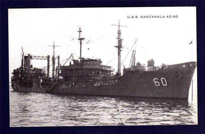 USS NANTAHALA AO-60 Fleet Oiler Navy Ship Postcard