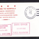 HMS BRECON M-29 & HMS DULVERTON M-35 Visit To Norfolk Royal Naval Ship Cover