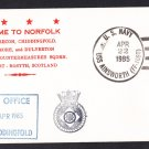 HMS CHIDDINGFOLD M-37 Visit to Norfolk Royal Navy Ship Cover