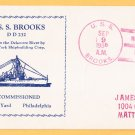 USS BROOKS DD-232 Decommissioning 1938 Naval Cover