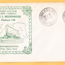 USS BRECKINRIDGE DD-148 Recommissioning FDPS 1940 Naval Cover