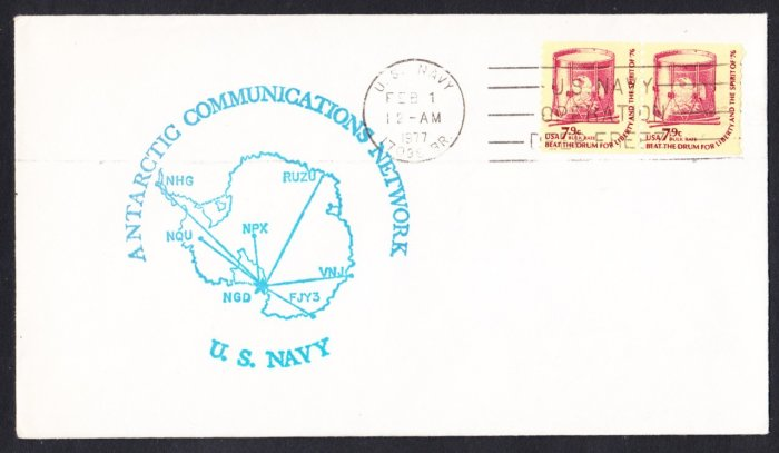 ANTARCTICA COMMUNICATIONS NETWORK McMURDO STATION ANTARCTICA 1977 Operation Deep Freeze Polar Cover