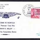USNS JONAH E. KELLEY T-APC-116 Norfolk VA Naval Cover