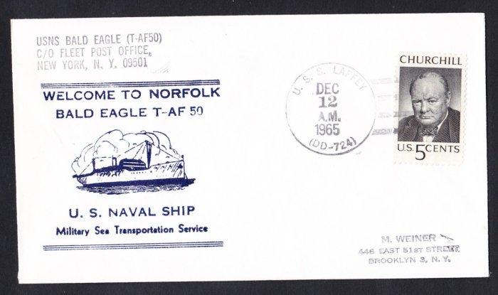 USNS BALD EAGLE T-AF-50 Norfolk VA Naval Cover