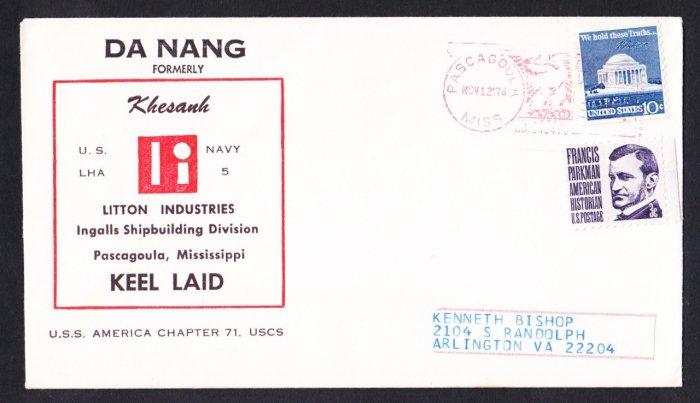 USS DA NANG LHA-5 Keel Laying Naval Cover