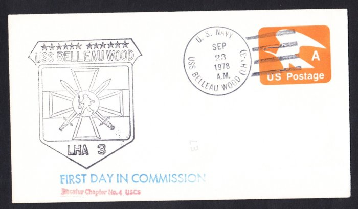 USS BELLEAU WOOD LHA-3 Commissioning Naval Cover